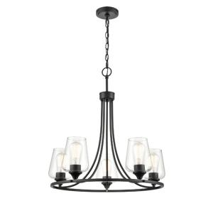 Ashford-5 Light Chandelier-25 Inches Wide by 25 Inches High