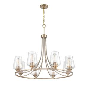 Ashford-8 Light Chandelier-32 Inches Wide by 28 Inches High