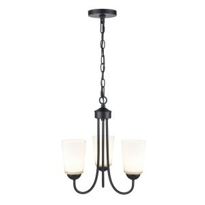 Ivey Lake-3 Light Chandelier with Glass-15 Inches Wide by 15.5 Inches High