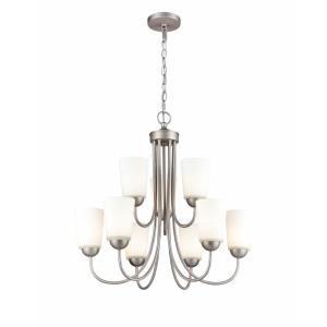 Ivey Lake-9 Light 2-Tier Chandelier-25.25 Inches Wide by 23.25 Inches High
