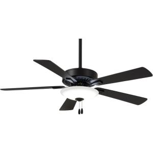 Contractor Uni - Ceiling Fan with Light Kit in Traditional Style - 17.5 inches tall by 52 inches wide