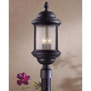 Hancock - Three Light Outdoor Post Mount Lantern