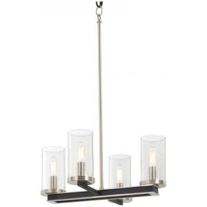 Cole's Crossing - 4 Light Convertible Pendant - 11.75 inches tall by 18 inches wide