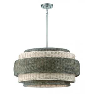 Montauck Bay - 5 Light Pendant - 13.75 inches tall by 25.25 inches wide
