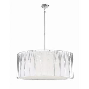 Regal Terrace - 6 Light LED Pendant - 27 inches tall by 32 inches wide