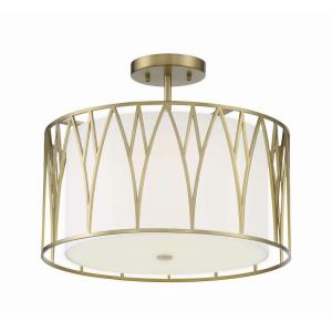 Regal Terrace - 1 Light LED Semi Flush Ceiling Light - 13 inches tall by 16.13 inches wide
