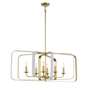 Aureum - 6 Light Pendant - 28 inches tall by 40 inches wide
