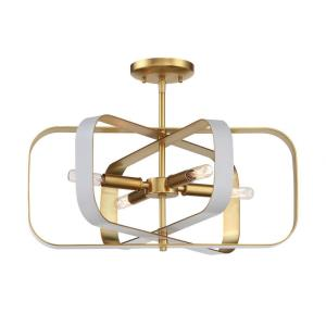 Aureum - 4 Light Semi-Flush Mount