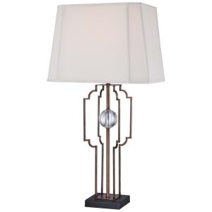1 Light Portable Table Lamp with White Suede Fabric Shade in Transitional Style - 24.75 inches tall by 15 inches wide