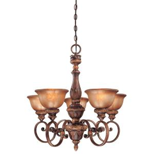 Illuminati Chandelier 5 Light Bronze
