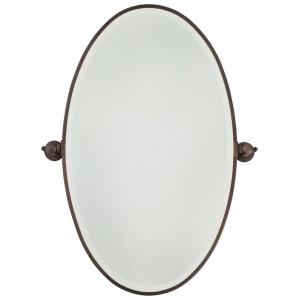 Extra Large Oval Beveled Mirror in Traditional Style - 35.75 inches tall by 27 inches wide