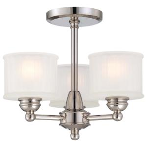 1730 Series - Three Light Semi-Flush Mount