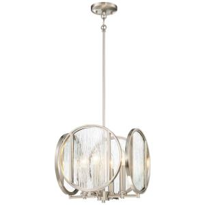 Via Capri - 4 Light Pendant in Contemporary Style - 12.5 inches tall by 13.25 inches wide
