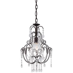 Mini Chandelier  1 Light Westport Silver