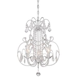 Mini Chandelier  3 Light Vintage Silver in Traditional Style - 23.25 inches tall by 16.5 inches wide