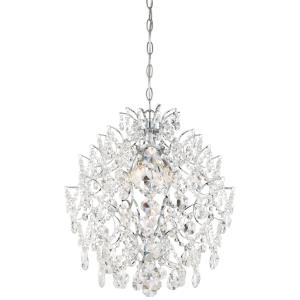 Isabella's Crown - Mini Chandelier 4 Light Chrome Crystal in Traditional Style - 20.75 inches tall by 18 inches wide