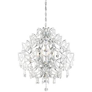Isabella's Crown - Chandelier 8 Light Chrome Crystal in Traditional Style - 30.5 inches tall by 26 inches wide