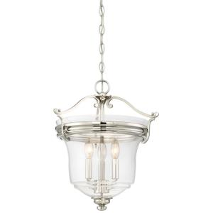 Audrey's Point - 3 Light Convertible Semi-Flush Mount in Transitional Style - 17.5 inches tall by 15.5 inches wide