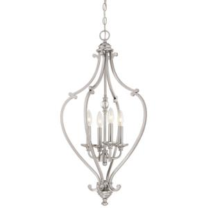 Savannah Row Chandelier 4 Light Brushed Nickel