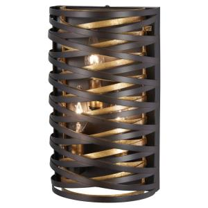 Vortic Flow - 3 Light Wall Sconce in Contemporary Style - 12 inches tall by 7 inches wide