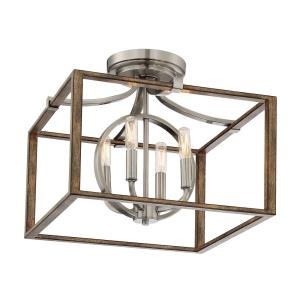 Country Estates - Four Light Semi-Flush Mount