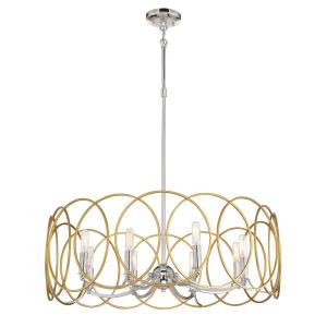 Chassell - 8 Light Pendant in Transitional Style - 28.5 inches tall by 31.5 inches wide