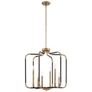 Liege Chandelier 6 Light Aged Kinston Bronze/Brass