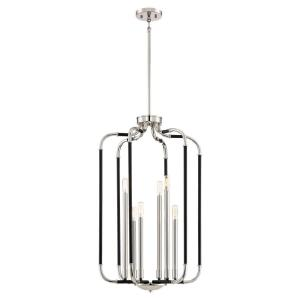 Liege - 6 Light Pendant in Transitional Style - 33 inches tall by 19 inches wide