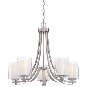 Parsons Studio Chandelier 5 Light Sand Coal Steel/Glass