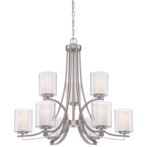 Parsons Studio - Chandelier 9 Light Smoked Iron in Transitional Style - 28.5 inches tall by 31.5 inches wide