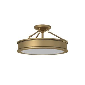 Harbour Point - 3 Light Semi-Flush Mount in Transitional Style - 9.75 inches tall by 19 inches wide