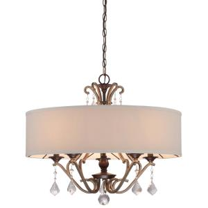 Gwendolyn Place - 5 Light Pendant in Traditional Style - 22 inches tall by 26 inches wide