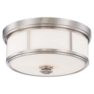 Harbour Point - 2 Light Flush Mount in Transitional Style - 6.5 inches tall by 13.5 inches wide