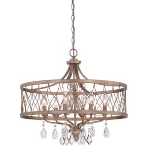 West Liberty Chandelier 6 Light Olympus Gold