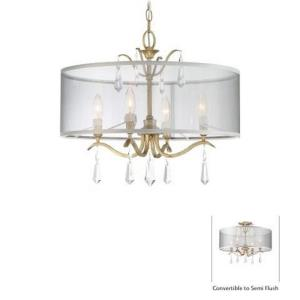 Laurel Estate - Four Light Convertible Semi-Flush Mount