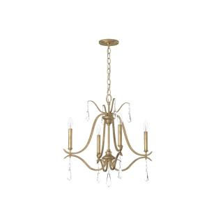Laurel Estate Chandelier 4 Light Brio Gold