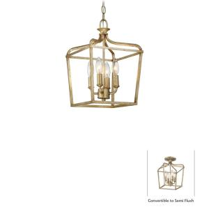 "Laurel Estate - 15"" Four Light Convertible Pendant"