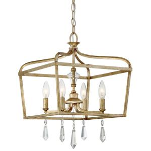 Laurel Estate - 4 Light Pendant in Traditional Style - 19.25 inches tall by 14.25 inches wide
