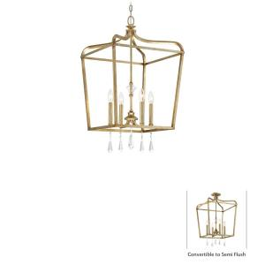 "Laurel Estate - 29.75"" Four Light Convertible Pendant"