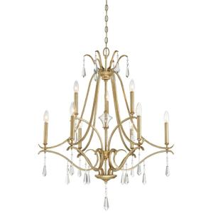 Laurel Estate - Chandelier 9 Light Brio Gold in Traditional Style - 37.5 inches tall by 31.5 inches wide