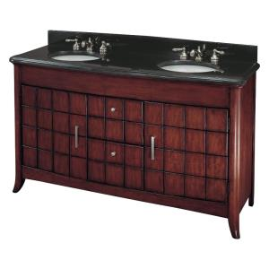 Double Bath Vanity - 41 inches tall by 62 inches wide