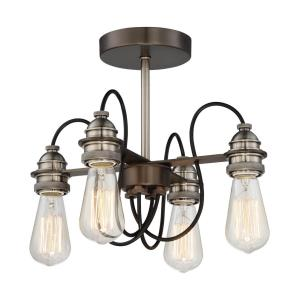 Uptown Edison - Four Light Semi-Flush Mount