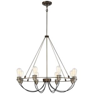Uptown Edison - Eight Light Chandelier
