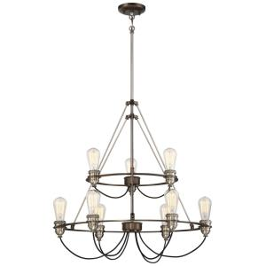 Uptown Edison - Nine Light Chandelier