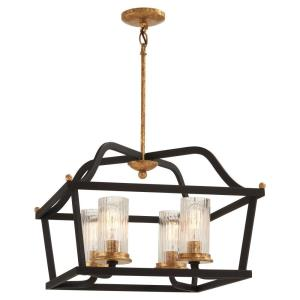 Posh Horizon - 4 Light Pendant in Transitional Style - 14.25 inches tall by 20.5 inches wide