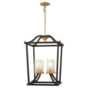 Posh Horizon - 4 Light Pendant in Transitional Style - 23.25 inches tall by 16.5 inches wide