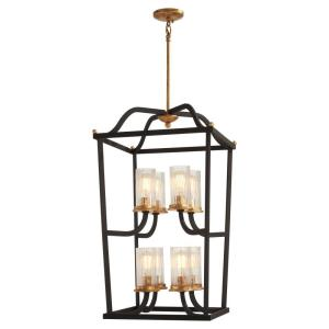 Posh Horizon - 8 Light 2-Tier Pendant in Transitional Style - 32 inches tall by 18.25 inches wide