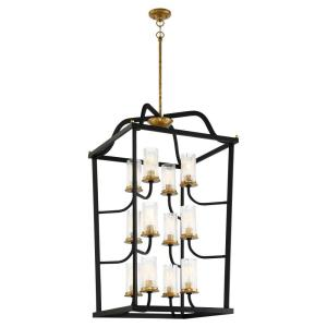 Posh Horizon - Twelve Light 3-Tier Pendant in Transitional Style - 42 inches tall by 24 inches wide