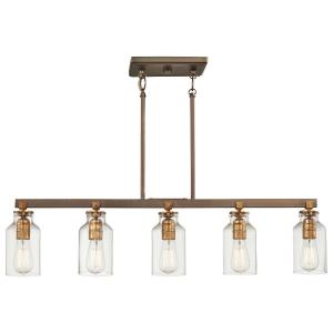 Morrow - 5 Light Island in Transitional Style - 9.75 inches tall by 5 inches wide
