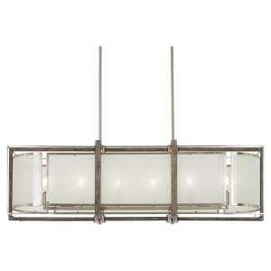 Tyson's Gate - 6 Light Island in Transitional Style - 13 inches tall by 12 inches wide